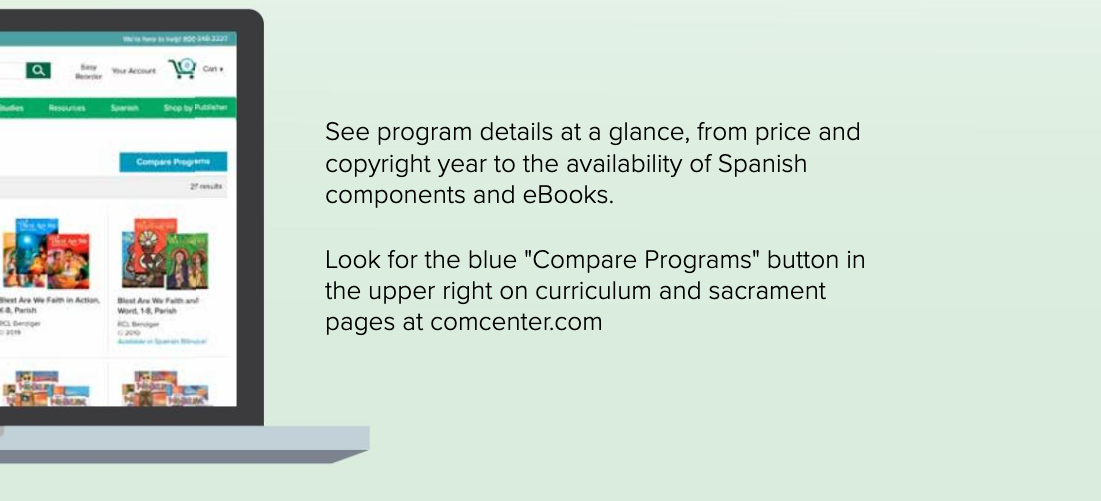 look for compare programs button