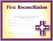 Together in Jesus: First Reconciliation: Certificate