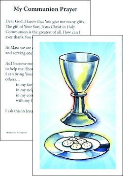 First Communion Prayer Card, 10-pack