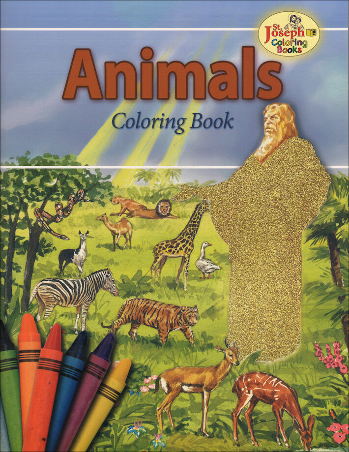 St joseph coloring books animals coloring book Sacred animals coloring book
