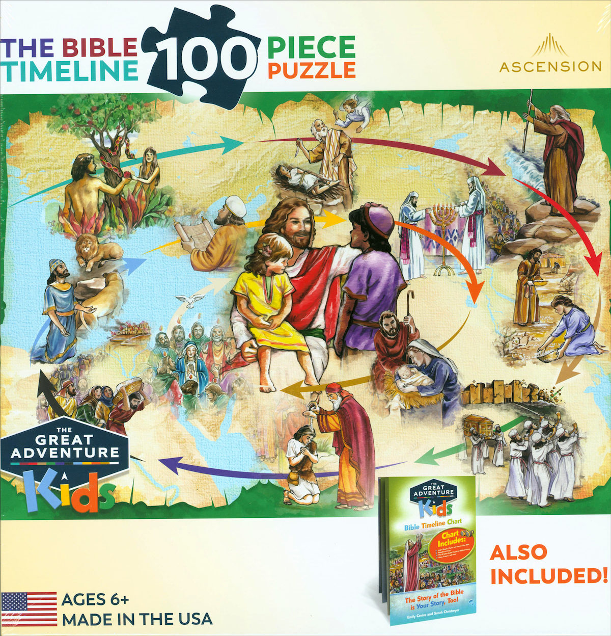 Great Adventure Storybook: The Bible Timeline Puzzle