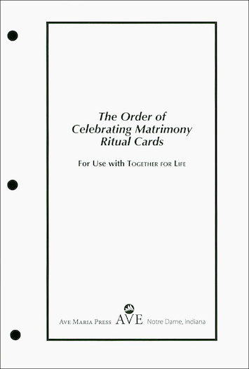 Order of Celebrating Matrimony Ritual Cards 2016 (cards only)