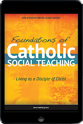 Encountering Jesus Series: Foundations Of Catholic Social Teaching, ebook (1 Year Access), Student Text