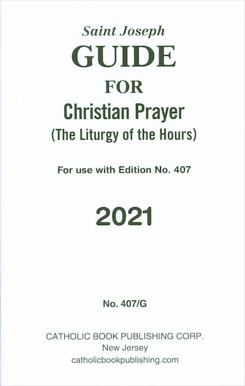 Liturgy of the Hours: Saint Joseph Guide for Christian Prayer 2021 Annual, large print