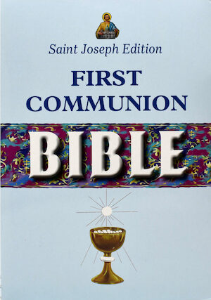 NCB, First Communion Bible, St. Joseph Edition, leather-like