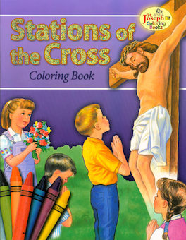 St. Joseph Coloring Books: Stations of the Cross Coloring Book