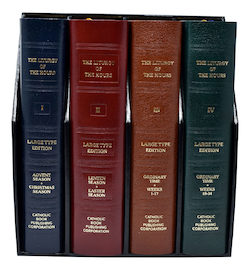 Liturgy of the Hours: Large Print Set of 4, leather