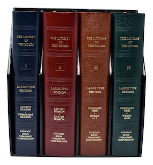 Liturgy of the Hours: Liturgy of the Hours: Large Print Set of 4, leather