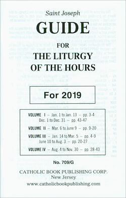 Liturgy of the Hours Annual Guide 2019, Large Print