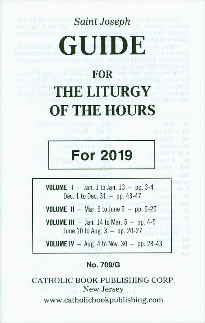 Liturgy of the Hours: Liturgy of the Hours Annual Guide 2019