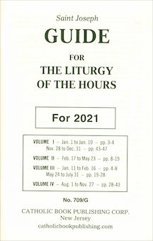 Liturgy of the Hours: Saint Joseph Guide for Liturgy of the Hours 2021 Annual, Large Print