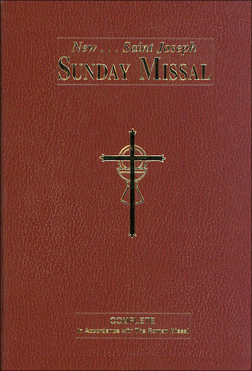 St. Joseph Missals: St. Joseph Large Print Sunday Missal, flexible burgundy cover