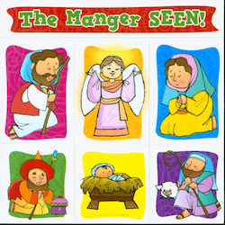 Advent Puzzle Magnet, The Manger Seen