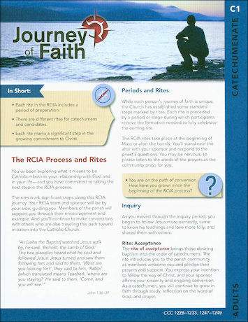Journey of Faith for Adults 2016: Catechumenate Participant
