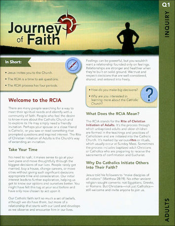 Journey of Faith for Adults 2016: Inquiry Participant