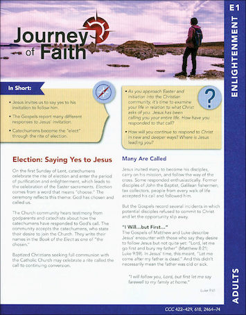 Journey of Faith for Adults 2016: Enlightenment Participant