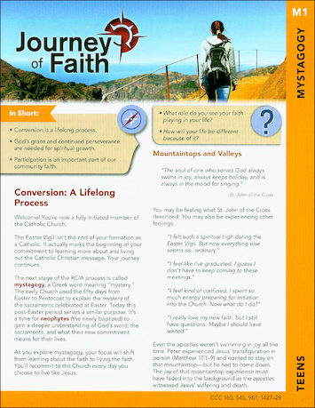 Journey of Faith for Teens 2016: Mystagogy Participant