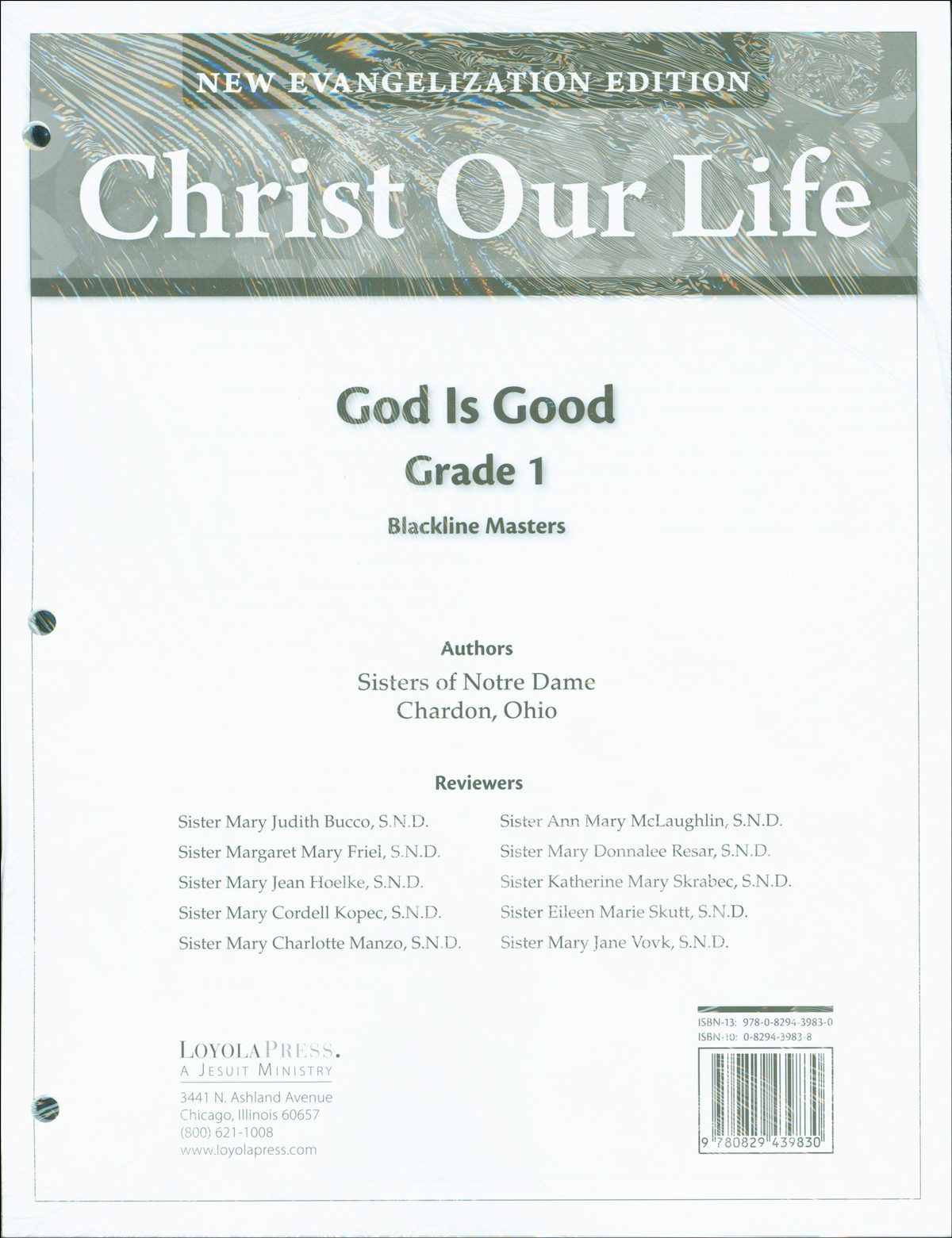 Christ Our Life: New Evangelization, K-8: Grade 1, Blackline