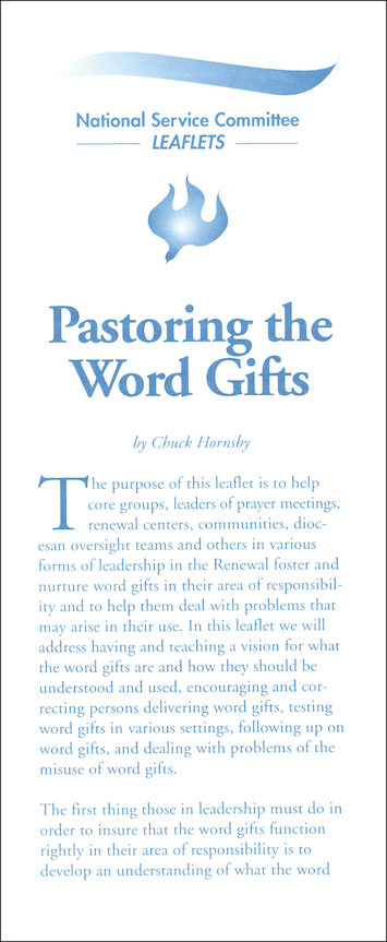 Pastoring Word Gifts