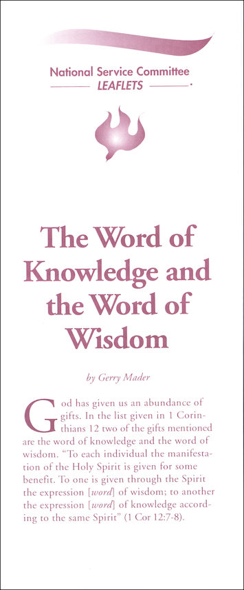 The Word of Knowledge and the Word of Wisdom