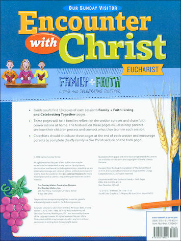 Encounter with Christ: Eucharist: Family and Faith Living and Celebrating Together Pages, 10 sets