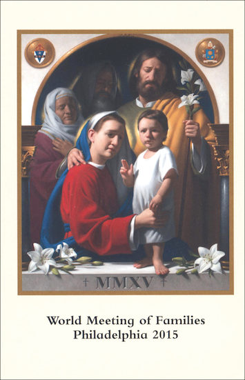 World Meeting of Families Prayer Card