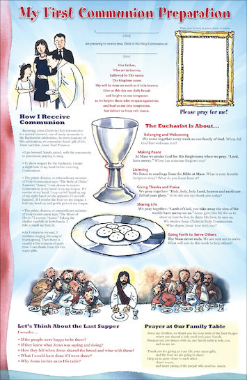 First Communion Family Poster, 10-pack