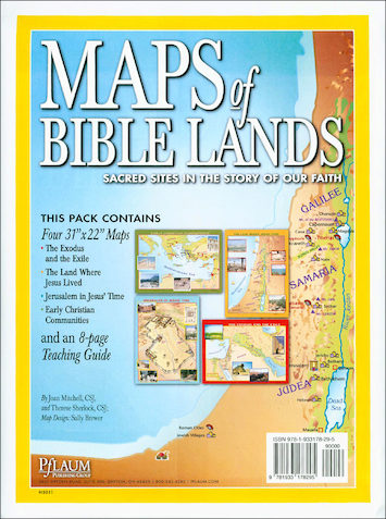 Maps of Bible Lands, Poster Set