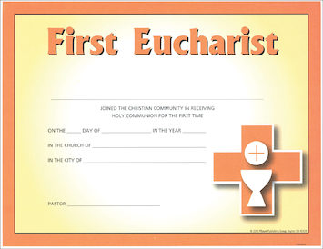 Together in Jesus: First Eucharist: Certificate