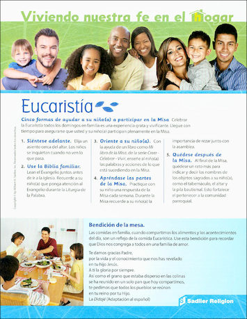 Creer Celebrar Vivir: La Eucaristía: Living Our Faith at Home: Eucharist, 10-pack, Parent Magazine