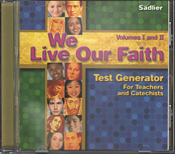 We Live Our Faith, Jr. High: Test Generator, CD-ROM