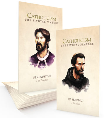 Catholicism: The Pivotal Players St. Augustine and St. Benedict: Prayer Cards