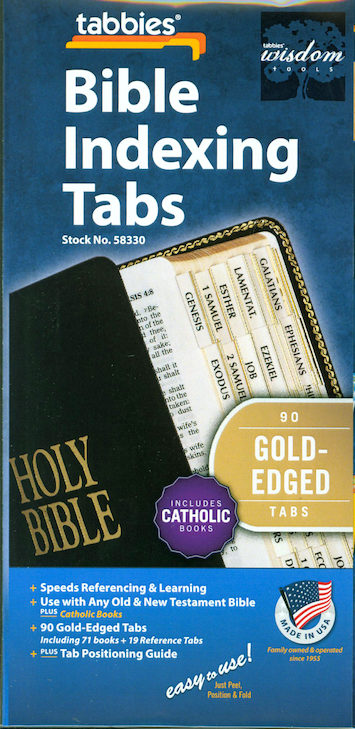 Bible Indexing Tabs: Bible Tabs, Catholic Edition, Regular, 10-pack