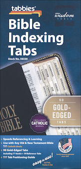 Bible Indexing Tabs: Bible Tabs, Catholic Edition, Regular, Single Set