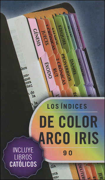 Bible Indexing Tabs: Etiquetas de Indizacion, para biblias, rainbow, 10-pack